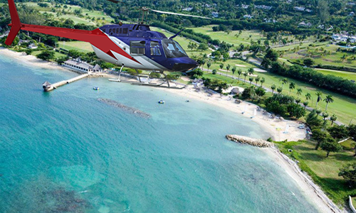 Sandals Whitehouse Helicopter Transfer from Montego Bay Airport