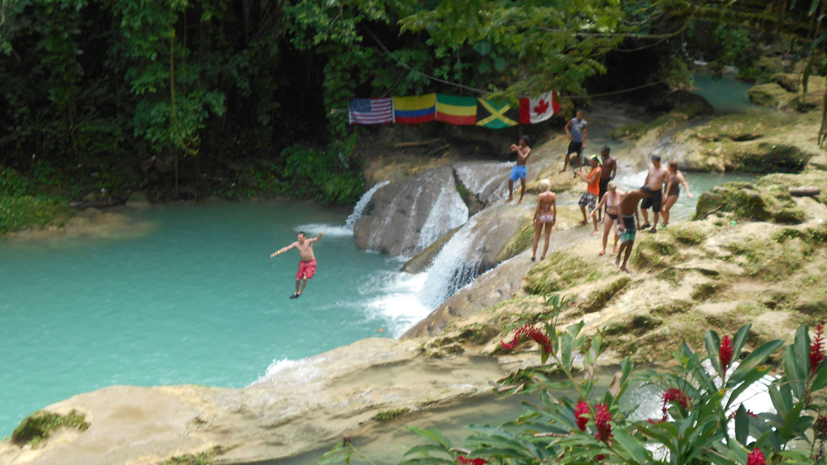 Blue Hole and Dunn's River Falls Tours from Grand Palladium Lady Hamilton Resort