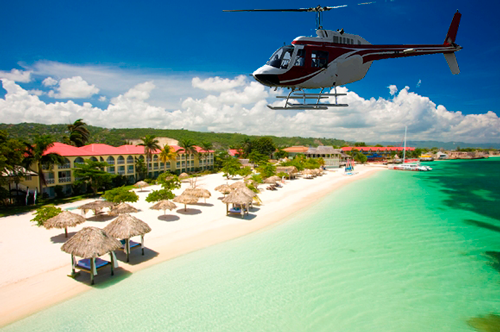 Sandals Whitehouse Shared Helicopter Flights from Montego Bay.