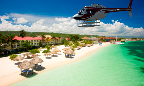 Sandals Whitehouse Helicopter Ride from Montego Bay Airport.